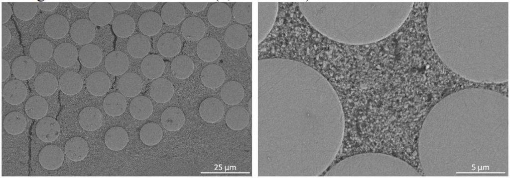 Figure 6: SEM Images of DF-11 OxOx CMC (1,500 Denier)